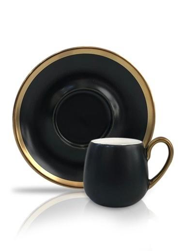 Winterbach Siyah Altın 6'Lı Türk Kahvesi Fincanı Siyah